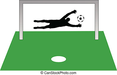 penalty shot color vector