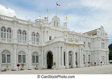 Penang architecture - An imposing building in Penang,...