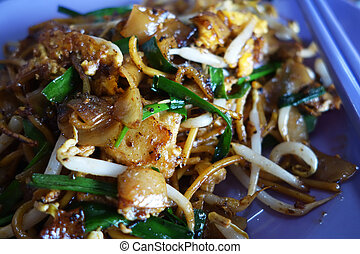 Penang Char Kway Teow Fried Wide Rice Noodles