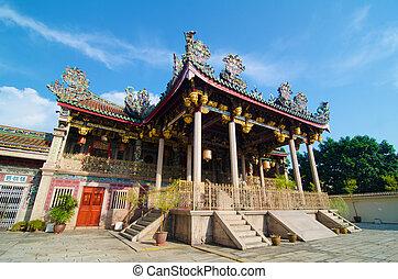 penang, héritage, site, khoo, kongsi, mondiale, temple