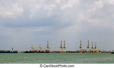 Penang Port, Malaysia timelapse 4k
