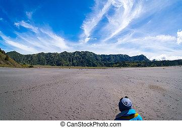 penanjakan tengger semeru view from bromo white desert