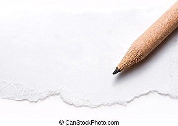 Pencil and a piece of paper