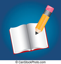 pencil and book