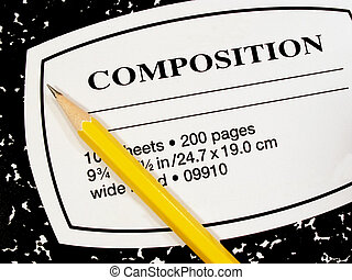 composition notebook - pencil and composition notebook
