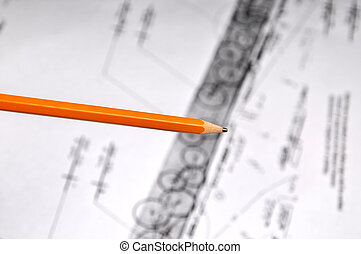 Pencil and Construction Plans