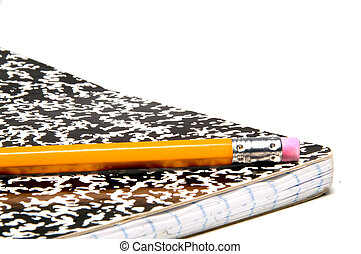 Pencil and Notebook - A number 2 pencil and a composition...