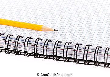 Pencil and notebook.
