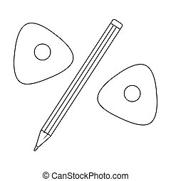 Pencil and sewing wash.Sewing or tailoring tools kit single icon in outline style vector symbol stock illustration.
