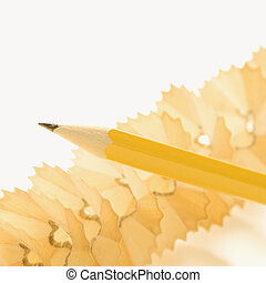 Pencil and shavings.