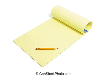 Pencil and Writing Pad
