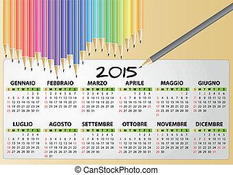 pencil calendar 2015