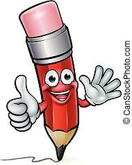 Pencil Cartoon Education Mascot