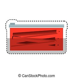 pencil case isolated icon