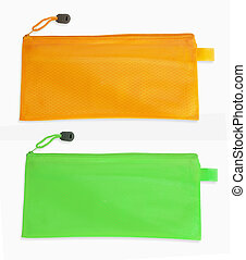 pencil case isolated on white background