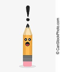 Pencil Character Exclamation
