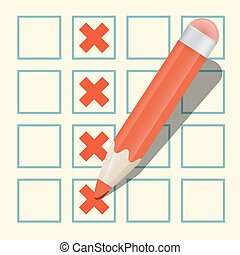 Pencil Check Option Vector