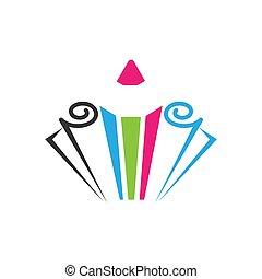 pencil colored icon vector,