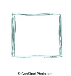 Pencil doodle drawing of a simple frame