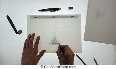 pencil drawing animator - working in the 2d animation...