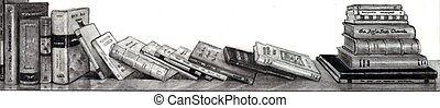 Pencil Drawing of Books on Shelf - A realism pencil drawing ...