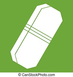 Pencil eraser icon green