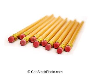eraser ends of pencils