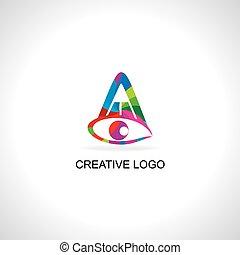 pencil eye colorful concept