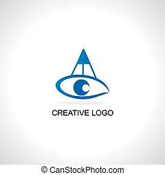 pencil eye concept vector