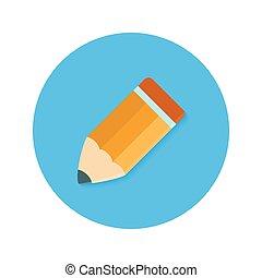 Pencil Flat Circle Icon