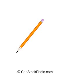 Pencil. Flat Design vector icon isolated on white background