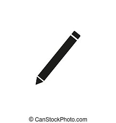Pencil flat icon. Single high quality outline symbol of graduation for web design or mobile app. Thin line signs of education for design logo, visit card,