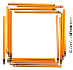 Pencil Frame - Square frame made of unsharpened number two...