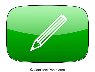 pencil green icon