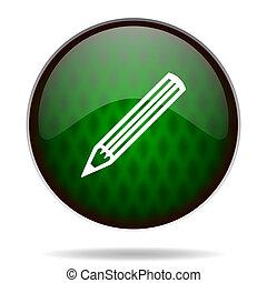 pencil green internet icon