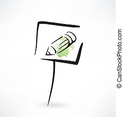 pencil grunge icon