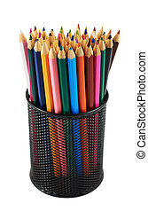 Pencil holder full of pencils