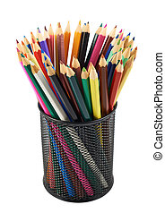 Pencil holder full of pencils