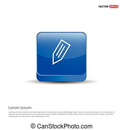 Pencil icon - 3d Blue Button