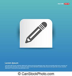 Pencil icon - Blue Sticker button