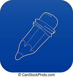 Pencil icon blue vector