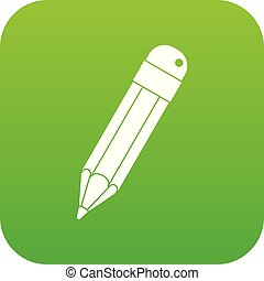 Pencil icon digital green