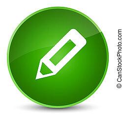 Pencil icon elegant green round button