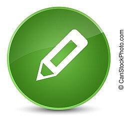 Pencil icon elegant soft green round button