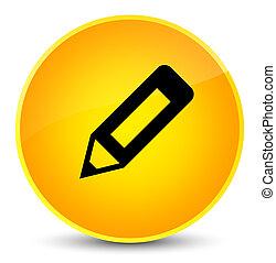 Pencil icon elegant yellow round button
