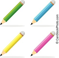 pencil icon flat style