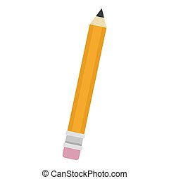 Pencil icon, flat style