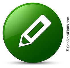 Pencil icon green round button