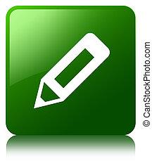Pencil icon green square button