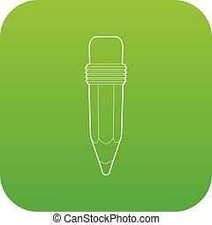Pencil icon green vector
